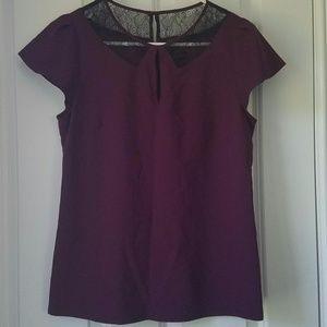 Ann Taylor Plum color top Size 0